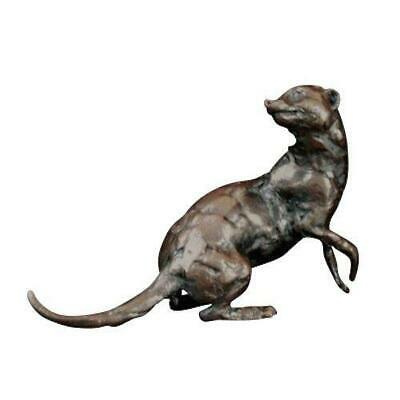 Solid Hot Cast Bronze Meerkat Crouching Limited Edition Michael Simpson