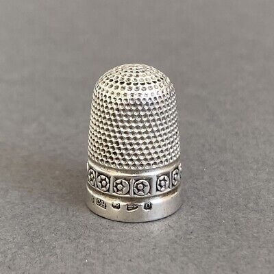 Antique Charles Horner Silver Thimble Chester 1897 Size 8