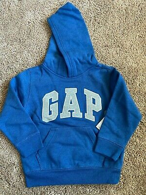 GAP Logo Hoodie Sweatshirt Blue Soft Fleece $30 XS  3 4 Boys Girls