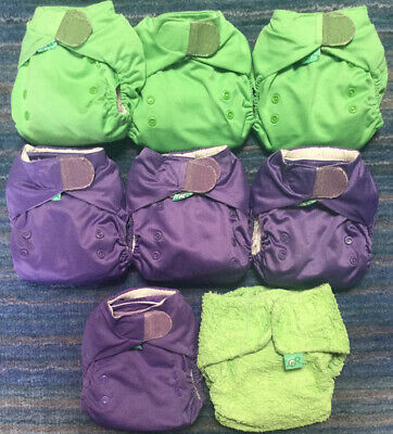 Tots Bots Easy fit Nappies with Boosters Plus Bamboozle. Washable Cloth Nappies