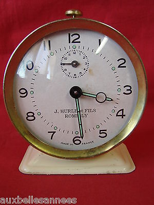 Antique Alarm Mechanical J. Yells And Son With Romilly / Clock Pendulum Old
