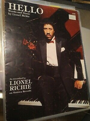 Lionel Richie, sheet music, Say You Say Me, Hello, Motown, rare