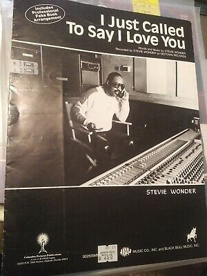 Stevie Wonder, sheet music, I Just Called To Say I Love You, Jobete, 1984