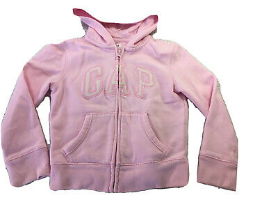 Girl's Pale Pink GAP hoodie (Sparkly Letters) Age 6-7