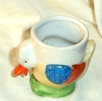 Colorful Duck Egg Cup Unmarked