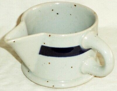 Dansk Creamer Pitcher Blue Mist Refsgaard Blue Stripe Made in Japan