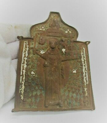 Beautiful Post Medieval Russian Religious Ornament Plaque 18Th Century