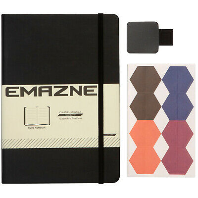Emazne Ruled Hardcover Notebook, Bullet Journal A5