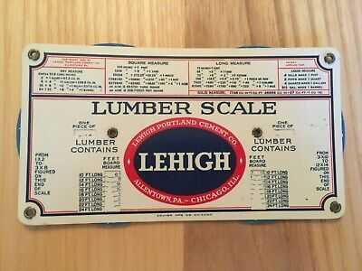 Old Celluloid Lehigh Portland Cement Co Concrete and Lumber Scale Allentown PA