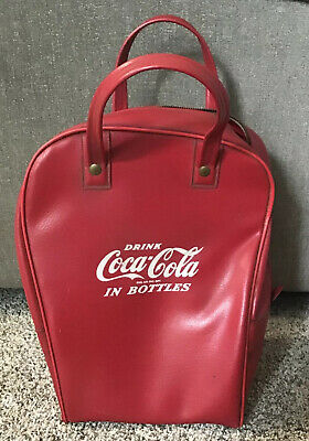 Rare Red Vintage Bowling Ball Bag Drink Coca-Cola In Bottles 1940's Coke