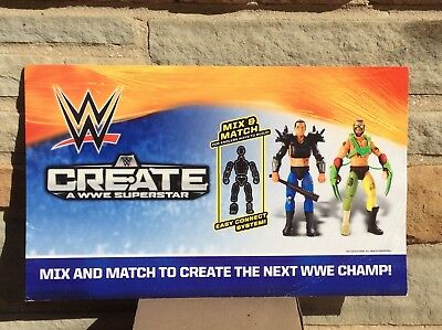 "WWE Superstore Create TRU Sign Double Sided 14"" X 8.5"" Store Display Wrestling"
