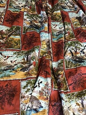 "Set 3 PaIr  Mens Hunting  Curtains Panels Drapes Pinch Pleat 30"" X 54"""