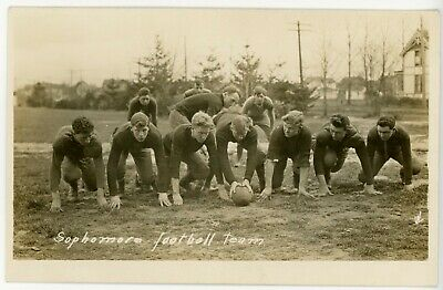 1910 Oregon State Sophomore football real photo postcard Excellent