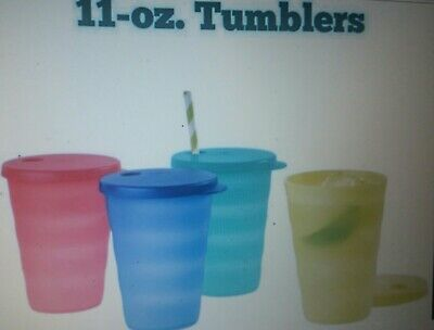 SALE! Tupperware Impression 11ozTumblers w/DriplessStrawSeals!These are Awesome!