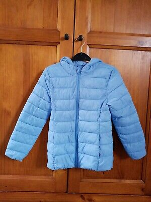 Girls lightweight spring/summer coat with hood age 7-8 years