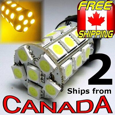 2x 7440 / 7443 Yellow/Amber LED Bulb - High Power 5050 Chips