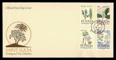 Dr Who 1990 St. Lucia Endangered Trees Fdc C171782