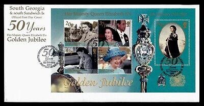 Dr Who 2002 South Georgia Qe Ii Golden Jubilee S/S Fdc C173361
