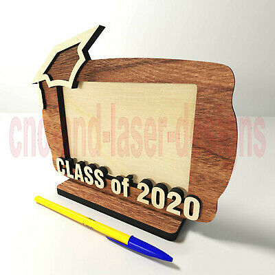 Class of 2020 photo frame SVG ++ files, laser cut, DXF layered cutting design