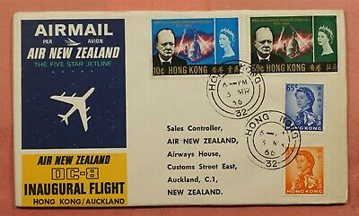 Dr Who 1966 Hong Kong Dc-8 First Flight To New Zealand  157717