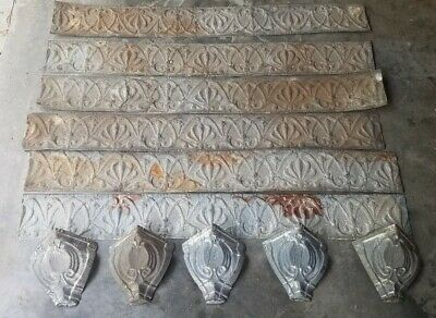 Antique Ceiling Tin - Cornice Tin - Architectural Salvage Victorian Tin over 24'