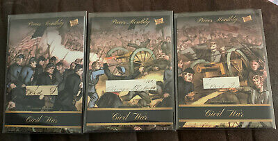 2020 Pieces Of The Past 3 Card Lot Civil War Letter Relic 1861-1865 Same Letter