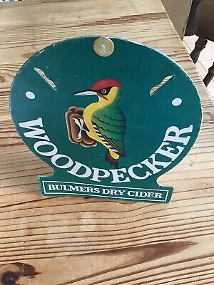 Bulmers Woodpecker Cider Advertising Sign Advertising Showcard