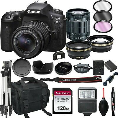 Canon EOS 90D  Digital SLR Camera with 18-55mm EF-S IS STM Lens+128GB (22PC)
