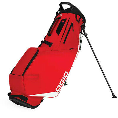 New Ogio Shadow Fuse 304 4-Way Stand Carry Golf Bag - Red - 2019