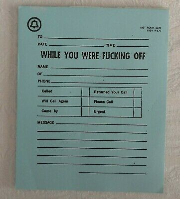 RARE 1967 Vintage BELL TELEPHONE SYSTEM Adult Humor Call Memo Pad