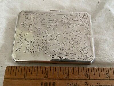 WWI War Reporter Journalists Correspondent Signed Sterling Silver Cigarette Case