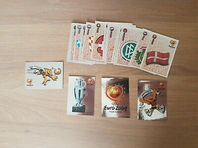 Panini Euro 2004 Complete Shiny Foil Set in Mint Condition