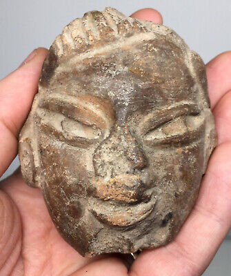 Large Pre-Columbian Terracotta Pottery Head Fragment Early Ancient Ritual