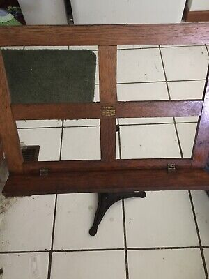 Hamilton Antique music stand oak and wrought iron