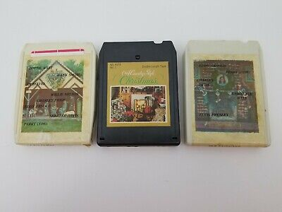 Country Christmas 8 Track Tapes Lot of 3 Country Christmas & Country Style