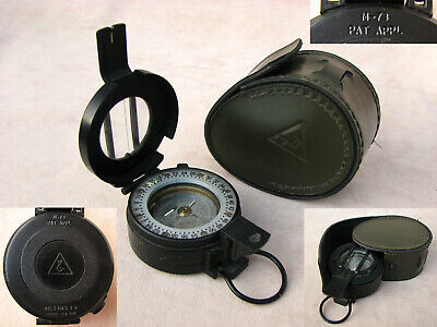 Francis Barker M-73 prismatic compass with case.
