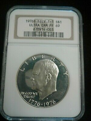 1976 S Silver  Eisenhower Dollar NGC Ultra CAM PF 69