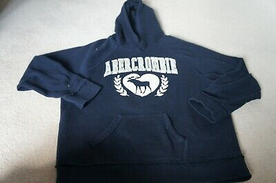 Abercrombie & Fitch girls navy hoodie age 9-10 years