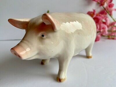 VINTAGE OTAGIRI Real PIG PIGGY BANK HAND PAINTED CERAMIC  Great CONDITION