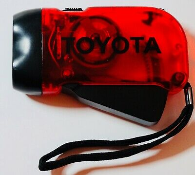 Toyota branded, hand powered flashlight: useful promotional item for collectors