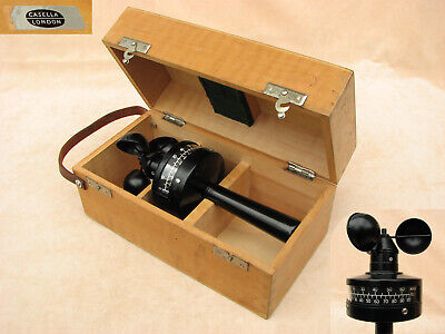 Post WW2 Casella hand held anemometer in fitted case.