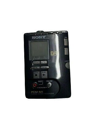 Sony Pcm-M1 Portable Dat Digital Audio Tape Recorder Player