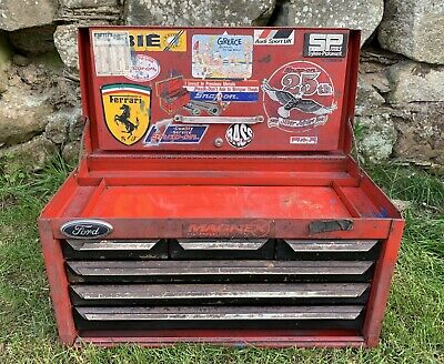 Vintage Sykes-Pickavant Tool Box Chest 6 Drawer Top Box with Snap On Stickers