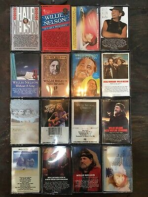 Willie Nelson Country Music Legend Cassette Tape Lot Bundle x 16 Good Condition