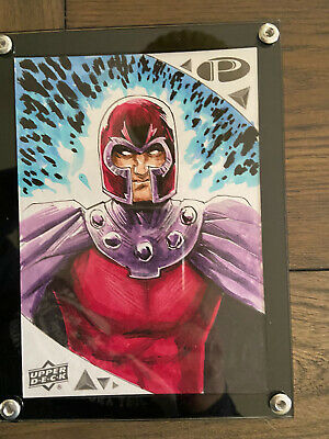 2019 Upper Deck Marvel Premier MAGNETO 5x7 Sketch By Shawn Langley