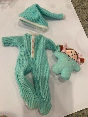 """8"""" Madeline Doll Pajamas Outfit with stuffed doll"""
