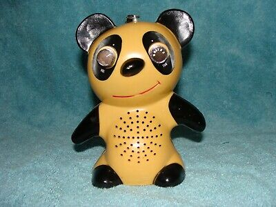 SMILING TEDDY Bear Transistor AM Radio Working Collectible