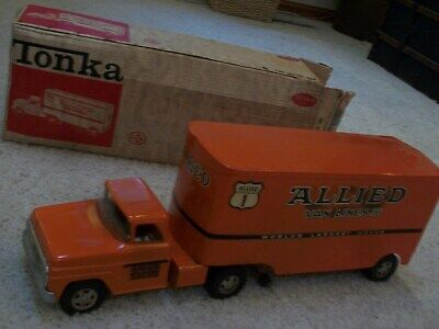 allied van lines semi tractor boxed nice toy 1960s original items....