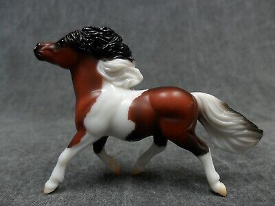 Breyer * Pinto Shetland * 9176 Pony and Draught Set Stablemate Model Horse x