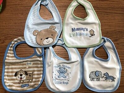 Baby Infant Bibs Set Of 5, NEW